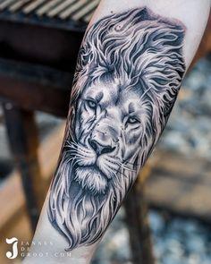 Realistic Lion Head Tattoo Jannes de Groot Tattoo Lion Head Tattoos, Photo And Video, Animals, Instagram, Animales, Animaux, Animal, Animais