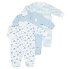 blue Sleepsuits - 3 Pack £7