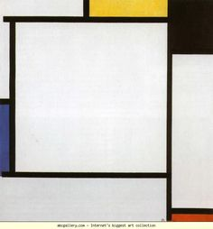 Piet Mondrian.  Composition 2./ Compositie  2.  1922. Oil on canvas. 55.5 x 53.5 cm. The Solomon R. Guggebheim  Museum, New York, NY, USA