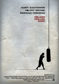 'Million Dollar Baby' (2004) - Minimal Movie Poster by Owain Wilson ~