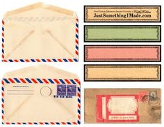 ...download these vintage envelopes, and labels. Thanks again to Cathe Holden...seriously, her website is the bomb!