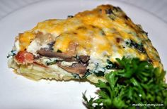 Foodista | Recipes, Cooking Tips, and Food News | Sweet, Sweet, Sweet Potato Quiche With Bacon and Mushrooms