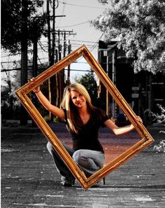 I hate the edit but I love this picture frame idea!!