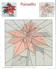 Patrón: Flor de Pascua - Patchwork