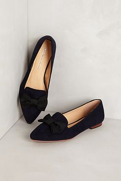 Bowtie Loafers #anthropologie, cute with denim.
