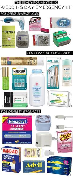 The Ready-For-Anything Wedding Day Emergency Kit | theglitterguide.com