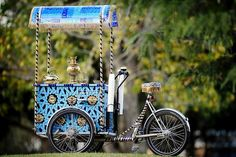 The City of Greater Dandenong's Afghan Tea Cycle was decorated by Afghan artist Aslam Akram to promote the city's Afghan Bazaar cultural precinct.