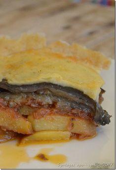 Lenten moussaka vegeterian Greek Recipes, My Recipes, Recipies, Moussaka, Lenten, I Foods, Pork, Vegetarian, Beef