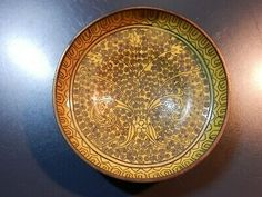 Vintage Yellow Enamel And Brass Handmade Bowl/Dish With Blue Bottom . Condition is Used. Dispatched with eBay delivery – Packlink 2-3 days.