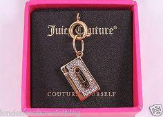 JUICY COUTURE CASSETTE TAPE GOLD TONE BRACELET CHARM YJRU6310