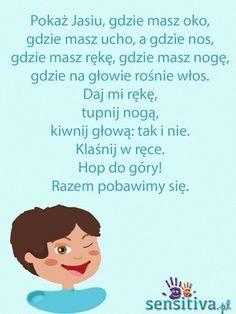 Early Education, Kids Education, Games For Kids, Activities For Kids, Projects For Kids, Crafts For Kids, Polish Words, Kindergarten Songs, School Songs