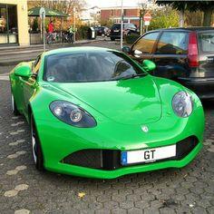 """#Green #Artega #GT | A Very Rare Sighting! Tag Your Friends Below. #BillionaireMotorsport"""
