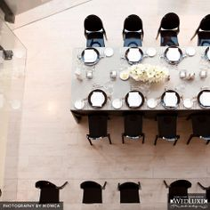 Black, white and gray at the Royal Conservatory of Music Wedding Reception Decorations, Wedding Venues, Philly Events, Ghost Chairs, Wedding Looks, Conservatory, Layout, Black And White, Philadelphia