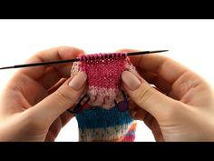 Wie stricke ich Socken? #4 Fersenkäppchen - YouTube