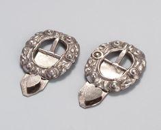 Zilveren schoengespen, 1750-1800 #NoordHolland #Marken