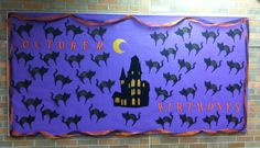 October Birthday Bulletin Board -Black Cats