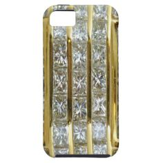 Yellow Gold and Diamond Art iPhone 5 Case