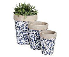 Set de 3 macetas de cerámica May 35€