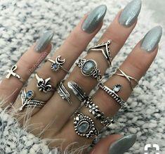 Nail Jewelry, Cute Jewelry, Metal Jewelry, Body Jewelry, Bridal Jewelry, Jewelry Rings, Silver Jewelry, Jewelry Accessories, Jewelry Logo