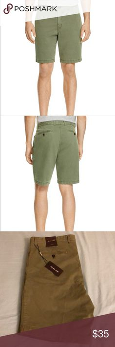 BRAND NEW MICHAEL KORS GARMENT DYED STRETCH SHORTS Michael Kors Cotton Dyed Stretch Cotton Shorts. Size 36. Ivy Green. Never worn, brand new. Michael Kors Shorts Flat Front
