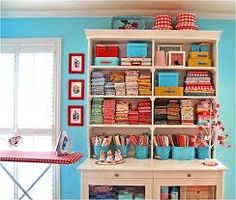 red and turquoise theme
