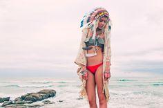 Beach boho for the gypsy in all of us. #fashion #beach #boho
