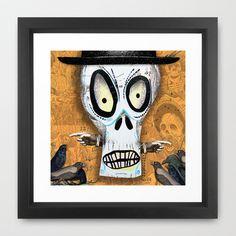 Skellington Framed Art Print by Silva Ware by Walter Silva - $37.00