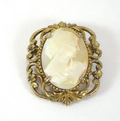 Cameo Brooch Pendant Vintage Victorian by paleorama on Etsy