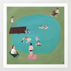 At the Quarry Pond Art Print by Angela Dalinger - $14.60