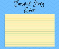 This is a fun way for your student or child to practice their writing with different prompts. Funny Stories, Prompts, Bar Chart, Activities For Kids, Kindergarten, Student, Make It Yourself, Writing, Children