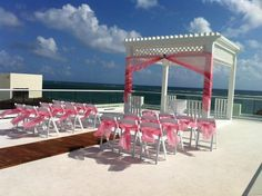 Azul Beach now offers a signature Sky Wedding on a rooftop terrace, overlooking the Caribbean!  Azul Beach Hotel by Karisma- Riviera Maya, MX