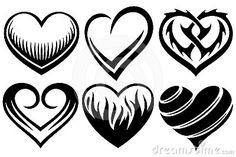 Tatouages de coeurs