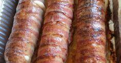 """Mennyei Baconos sajtos tekercs recept! Erről csak hírből hallottam, megpróbáltam elkészíteni. Bármilyen körettel tálalható, én önmagában ettem. Csak """"húszdekás""""-nak hívom 😊"""