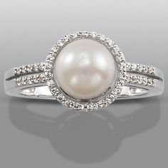 pearl engagement ring love something a little different wedding ideas pinterest pearls ring and diamond - Pearl Wedding Ring