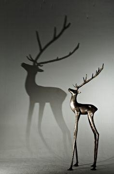BAMBI, coat hanger. Cast brass in Silver Brass finish. arc-living.com