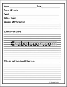 Panicked Teachers Blog Pinterest Current Events Articles - Fresh article summary template high school ideas