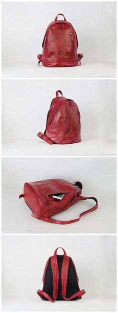 Handmade Antique Leather Backpack School Backpack Travel Backpack We use genuine cow leather, quality hardware and nylon fabric to make the bag as good as it is. •Comfortable Shoulder Strap. • Inside