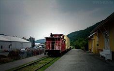 Papel de Parede - Trem das Montanhas