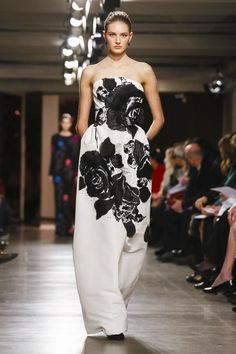 Oscar de La Renta Ready To Wear Fall Winter 2015 New York...Wow, I see pants. Love the fabric. Imagine this in your wedding colors. Try different combinations of embellishments to create that ultimate bridal look.