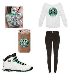 """""""Starbucks"""" by princess-adjei on Polyvore"""