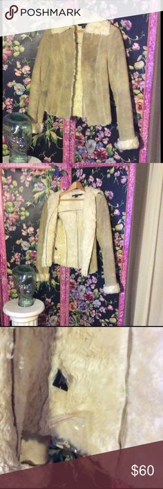 Selling this Gorgeous brand-new beige suede jacket on Poshmark! My username is: patriciamildred. #shopmycloset #poshmark #fashion #shopping #style #forsale #Express #Jackets & Blazers