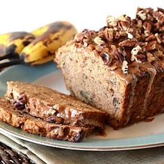 Caramelized banana bread with browned butter glaze recipe banana bread with cinnamon glaze and pecans foodgawker forumfinder Image collections