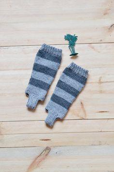 Hand knit striped toddler leg warmers // Baby yoga socks by OnwardOnward