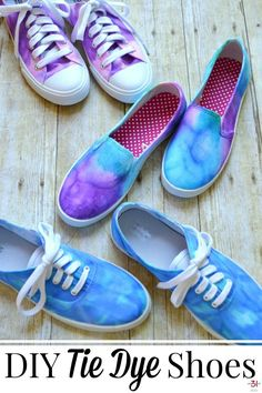 ac9357eb114f Making your own DIY tie dye shoes is easy with this tutorial. It s a  creative