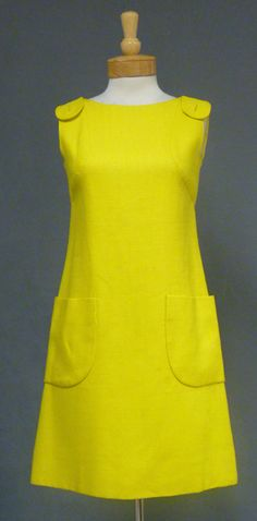 Vintageous, LLC - Canary Yellow SARMI Linen 1960's Dress, $245.00 (http://www.vintageous.com/canary-yellow-sarmi-linen-1960s-dress/)