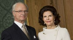 Kong Carl Gustaf og dronning Silvia flager på halv stang