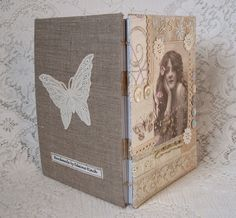A5 Handmade Journal with vintage butterfly motif £15.95
