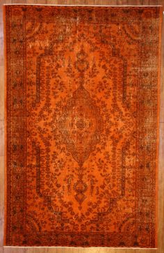 Use the 20% off coupon code BAZAARBAYARPINTEREST to buy this Burnt Orange Overdyed Rug by bazaarbayar on Etsy