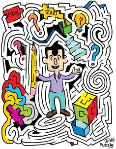 Can you solve this perplexing maze? Maze Puzzles, Wall Street Journal, Jaba, Alice In Wonderland, How To Draw Hands, It Is Finished, Artist, Fictional Characters, Education