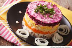 Hering Salat mit roter Beete